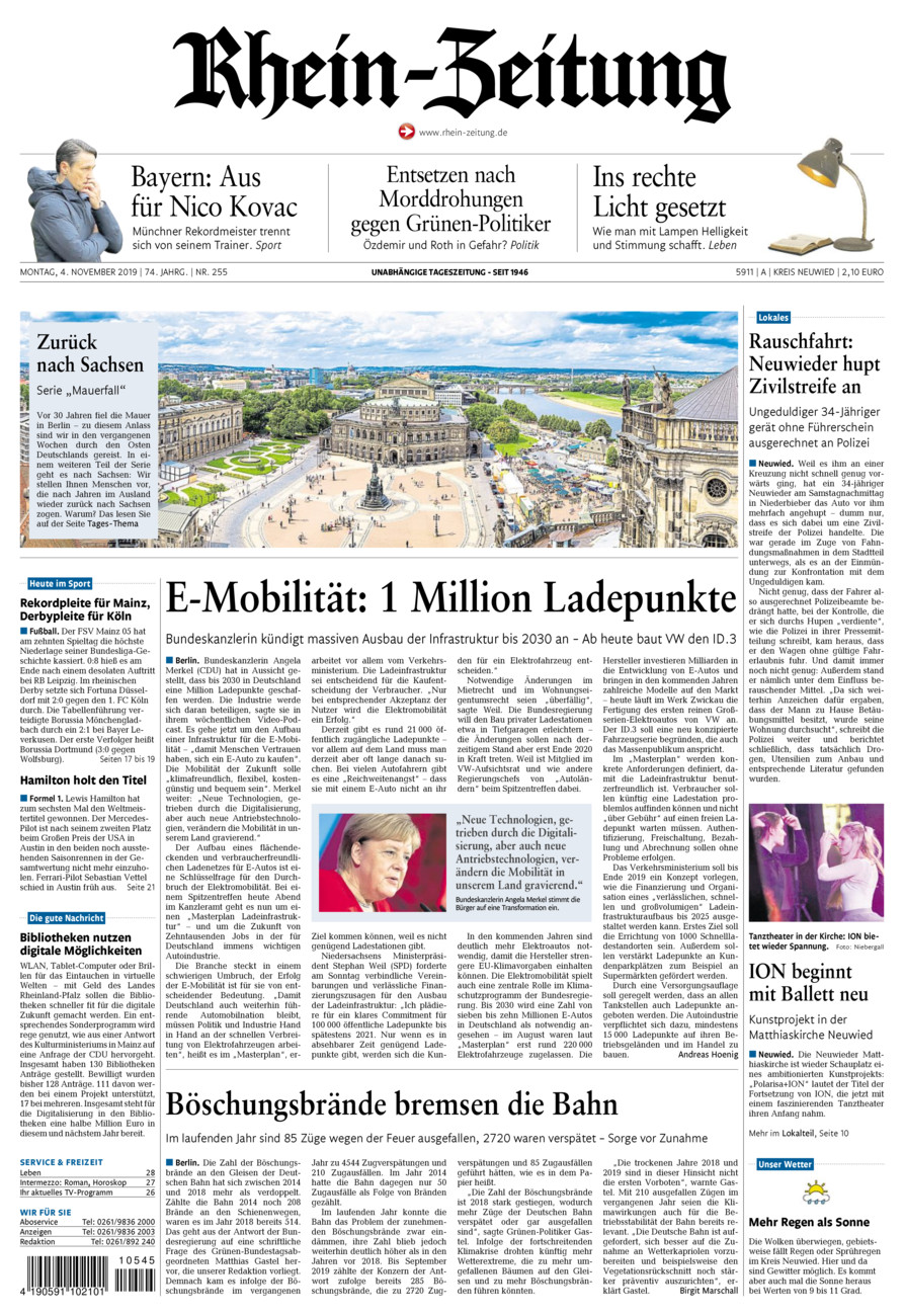 Rhein-Zeitung Kreis Neuwied vom Montag, 04.11.2019