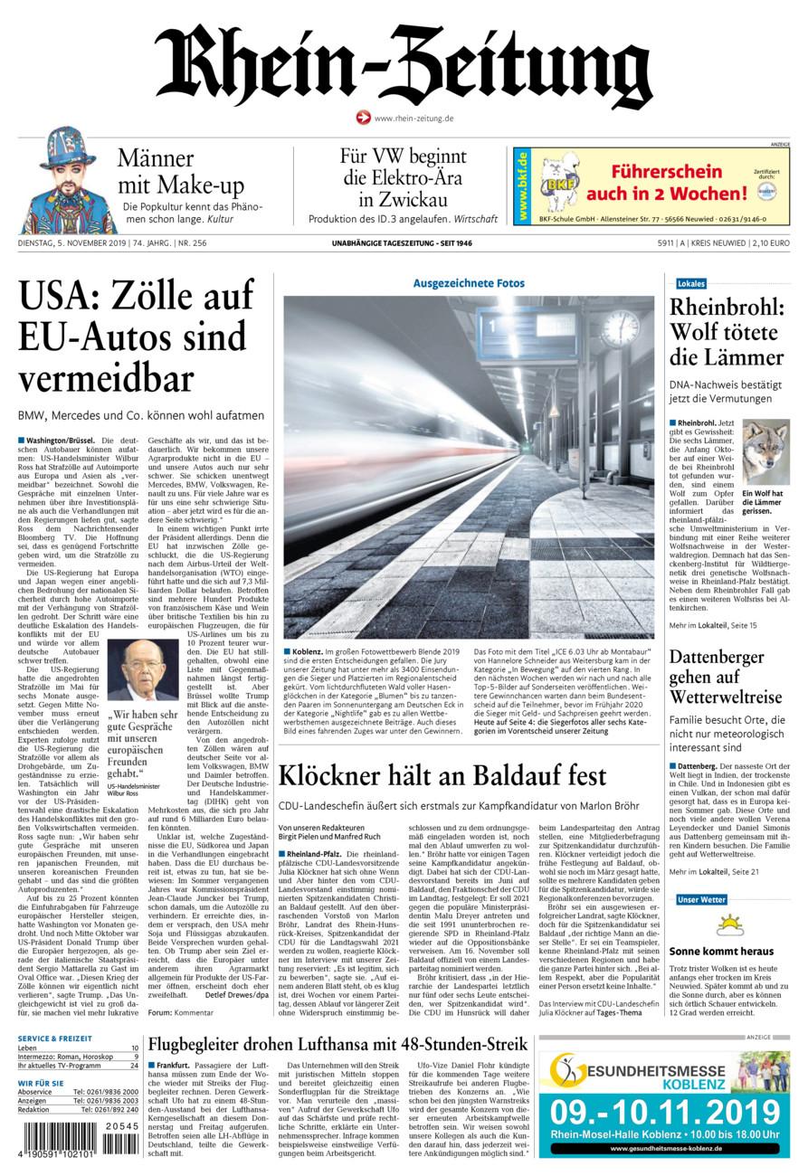 Rhein-Zeitung Kreis Neuwied vom Dienstag, 05.11.2019
