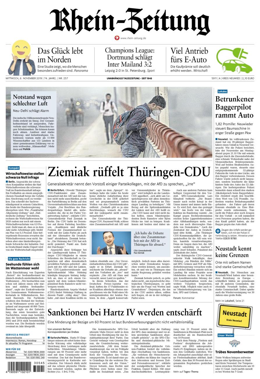 Rhein-Zeitung Kreis Neuwied vom Mittwoch, 06.11.2019
