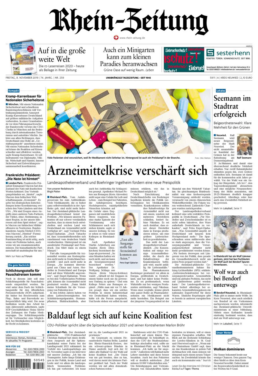 Rhein-Zeitung Kreis Neuwied vom Freitag, 08.11.2019