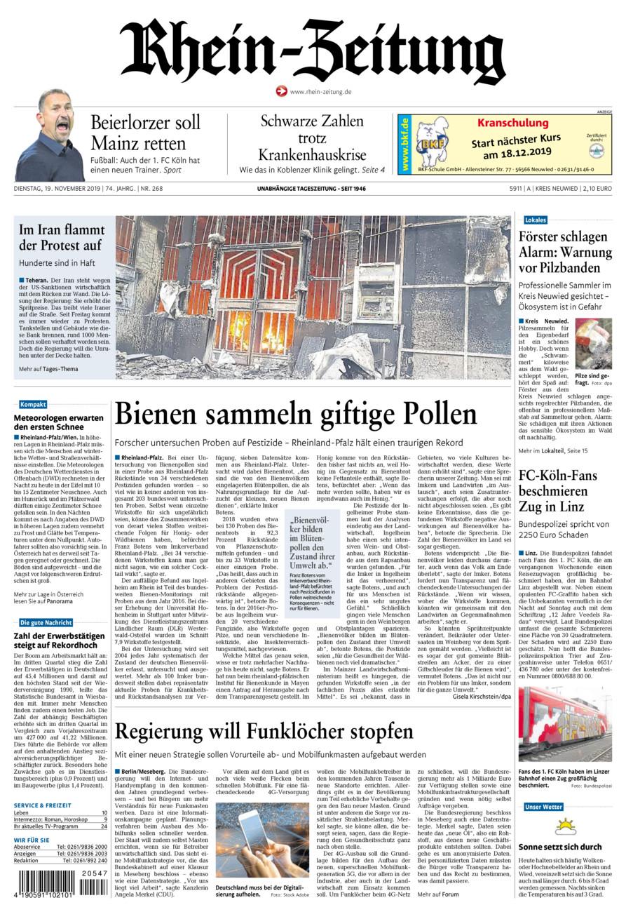 Rhein-Zeitung Kreis Neuwied vom Dienstag, 19.11.2019