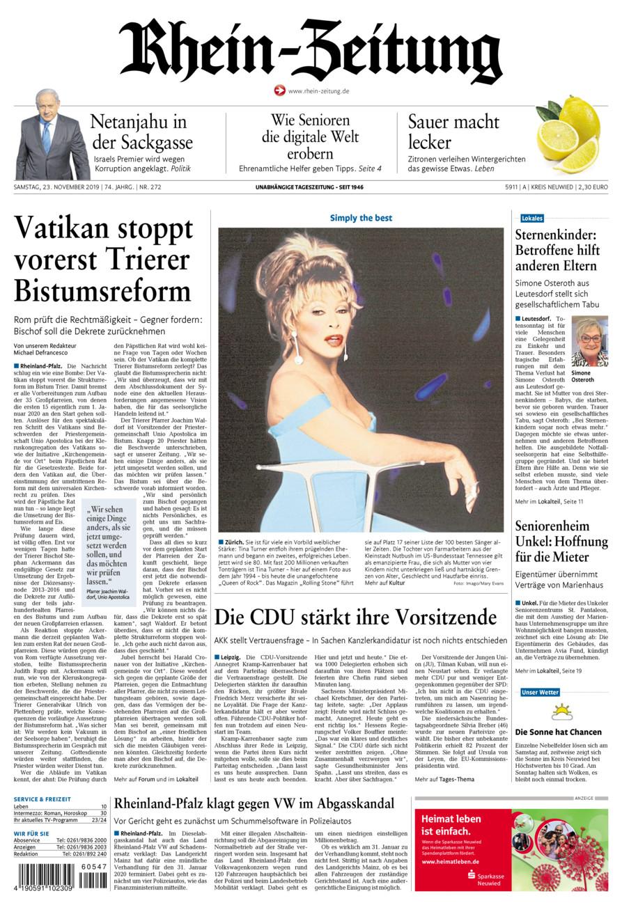 Rhein-Zeitung Kreis Neuwied vom Samstag, 23.11.2019