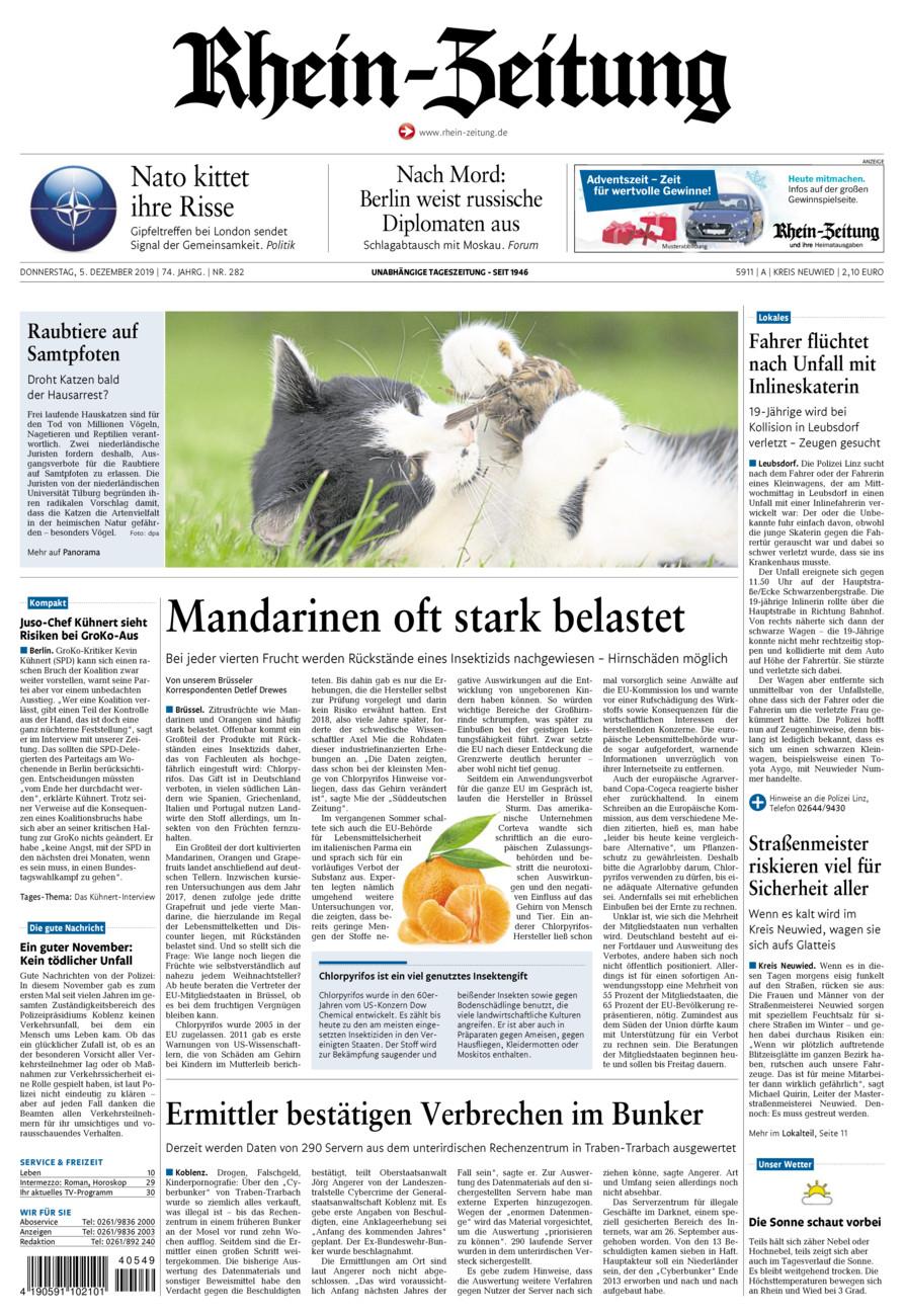 Rhein-Zeitung Kreis Neuwied vom Donnerstag, 05.12.2019