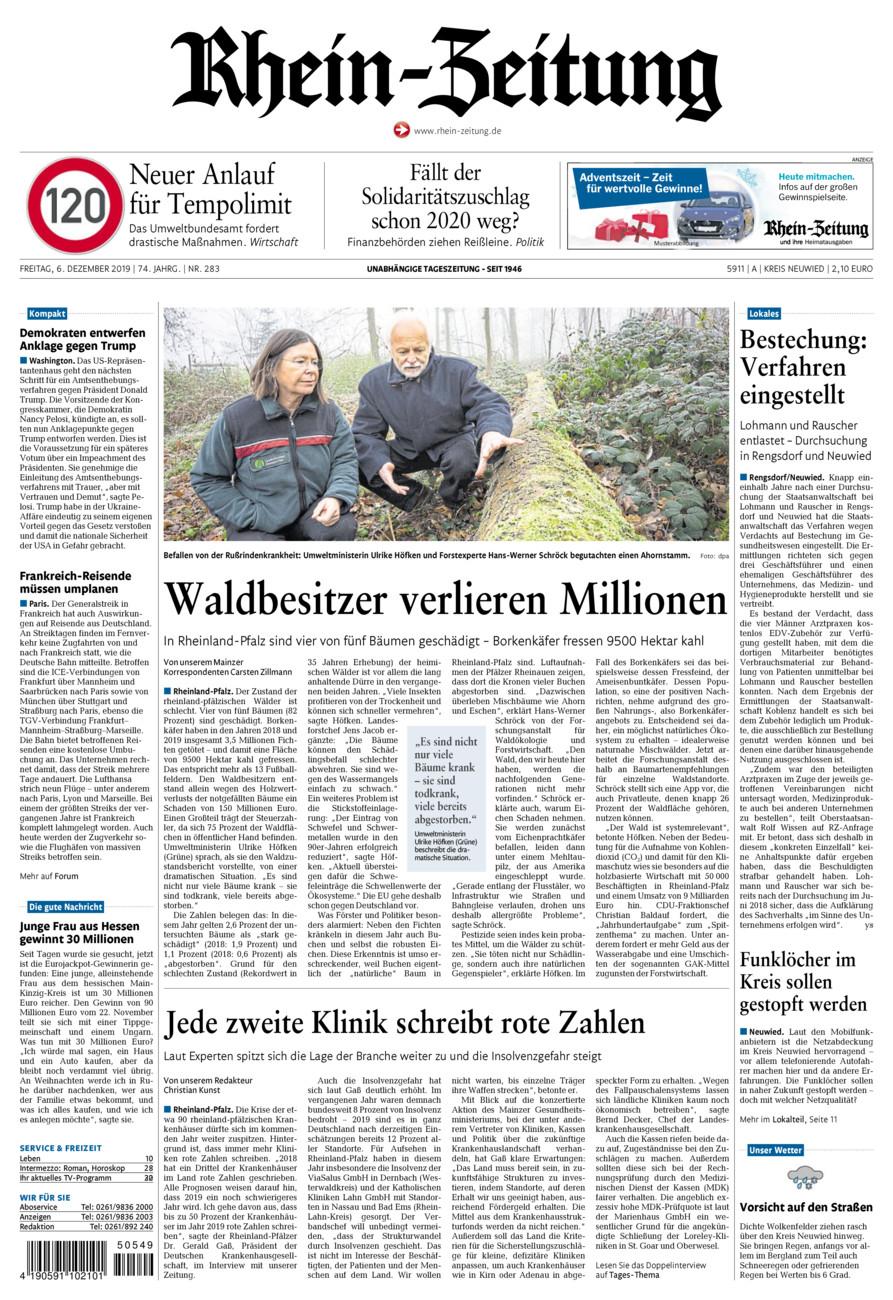 Rhein-Zeitung Kreis Neuwied vom Freitag, 06.12.2019