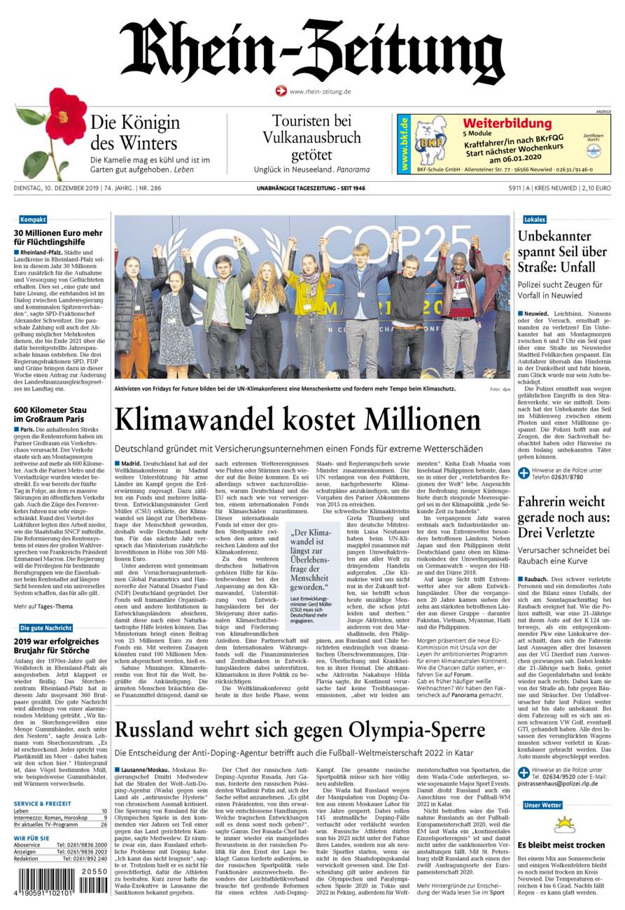 Rhein-Zeitung Kreis Neuwied vom Dienstag, 10.12.2019