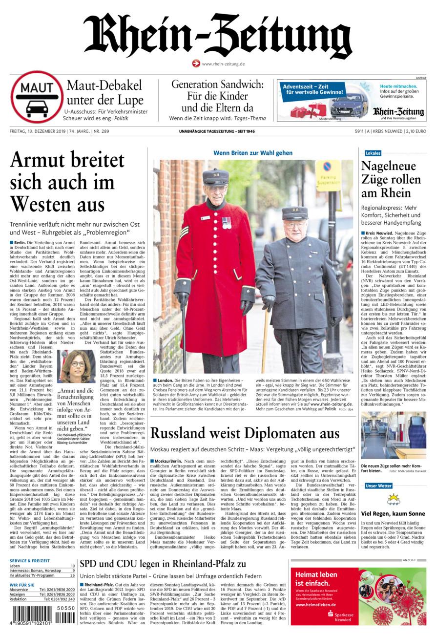 Rhein-Zeitung Kreis Neuwied vom Freitag, 13.12.2019
