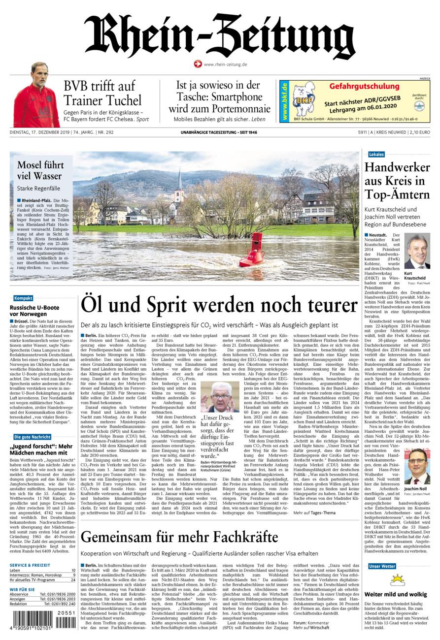 Rhein-Zeitung Kreis Neuwied vom Dienstag, 17.12.2019