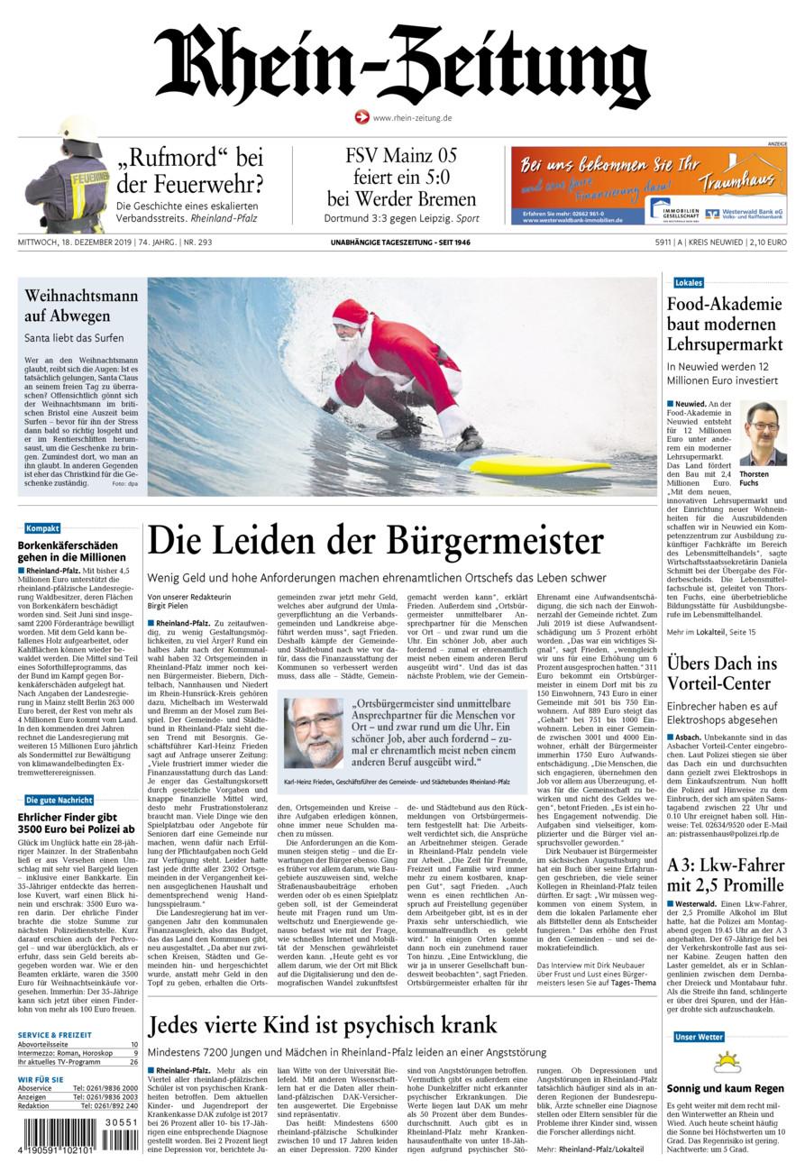 Rhein-Zeitung Kreis Neuwied vom Mittwoch, 18.12.2019