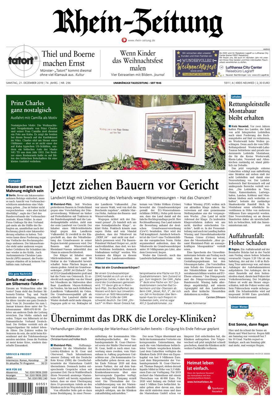 Rhein-Zeitung Kreis Neuwied vom Samstag, 21.12.2019