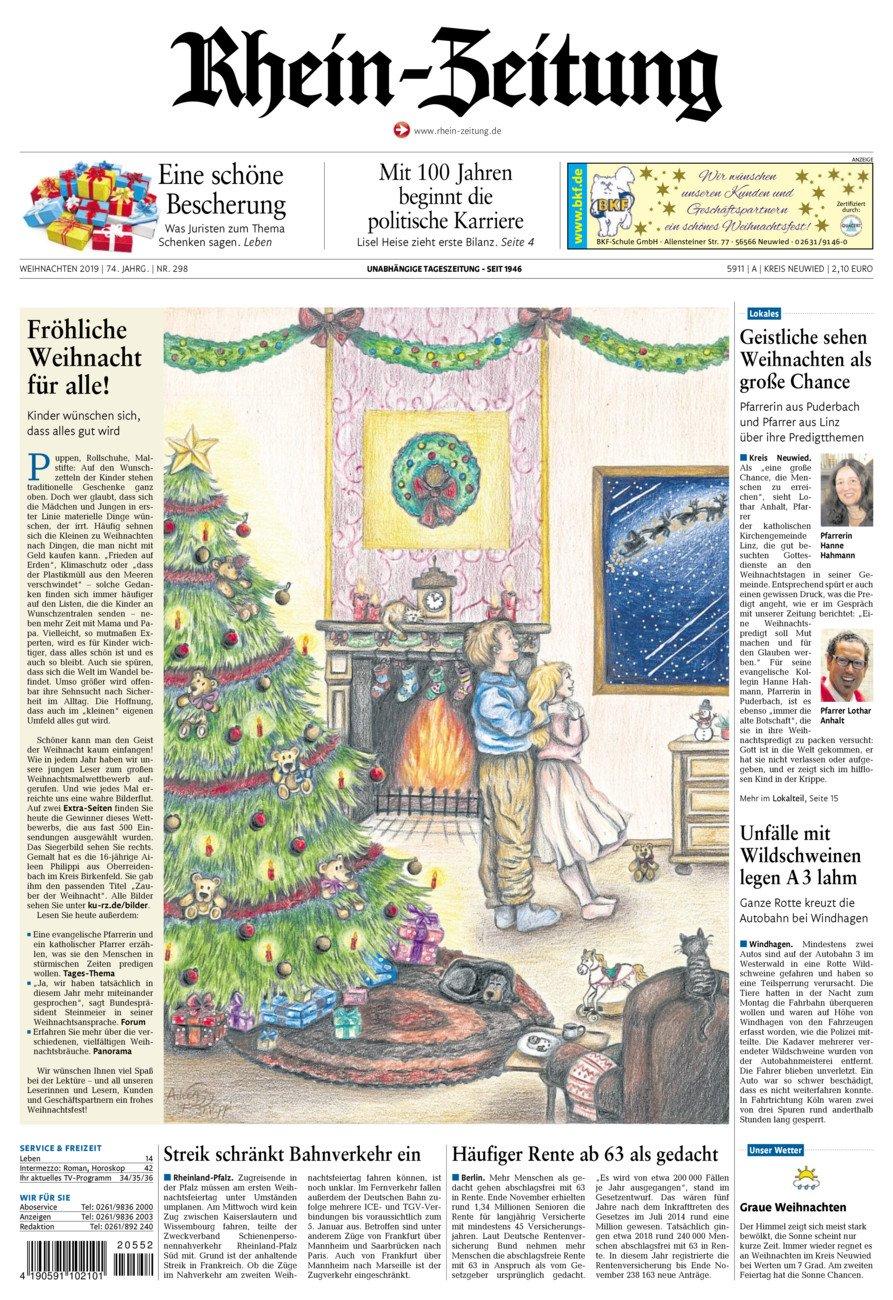 Rhein-Zeitung Kreis Neuwied vom Dienstag, 24.12.2019