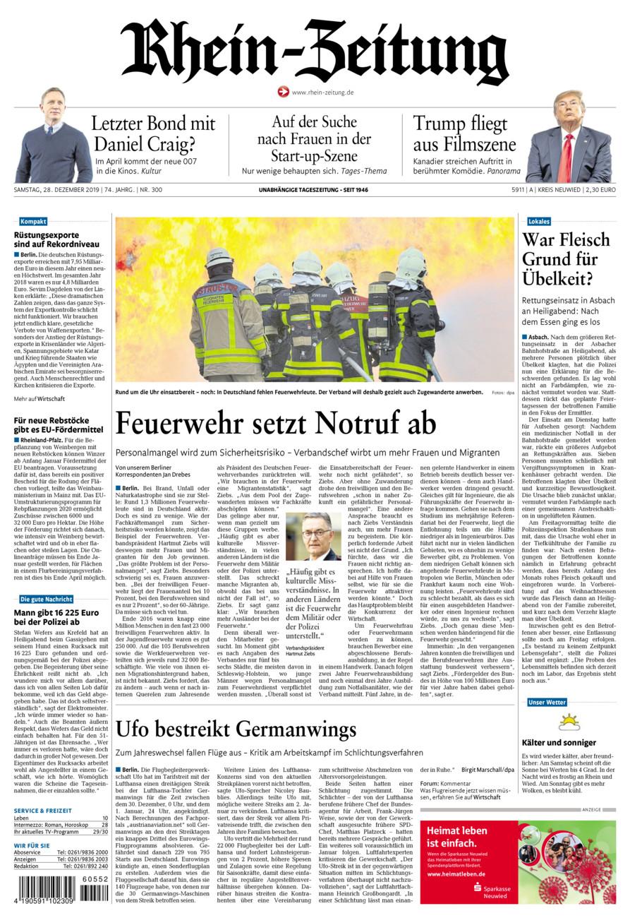 Rhein-Zeitung Kreis Neuwied vom Samstag, 28.12.2019