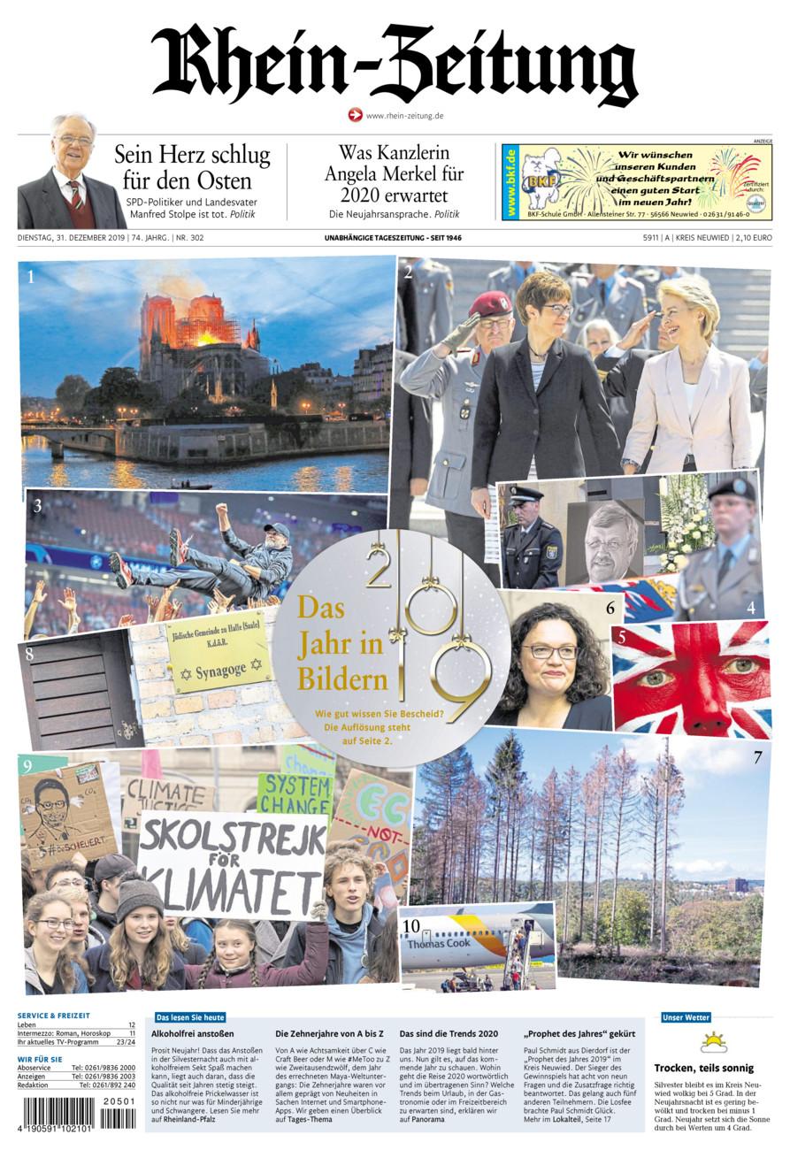Rhein-Zeitung Kreis Neuwied vom Dienstag, 31.12.2019