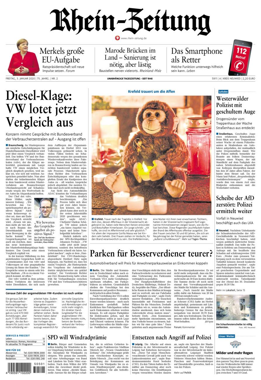 Rhein-Zeitung Kreis Neuwied vom Freitag, 03.01.2020