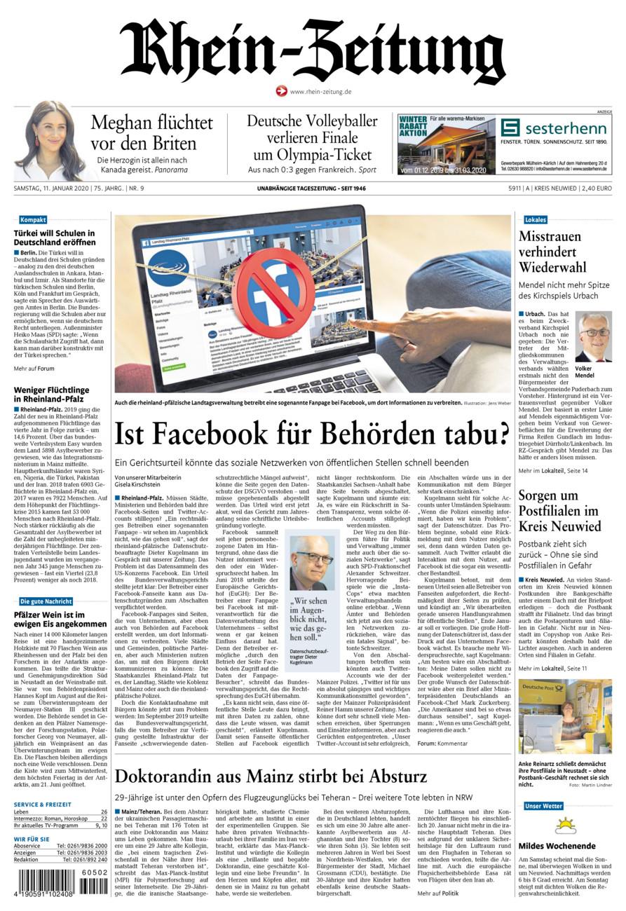 Rhein-Zeitung Kreis Neuwied vom Samstag, 11.01.2020