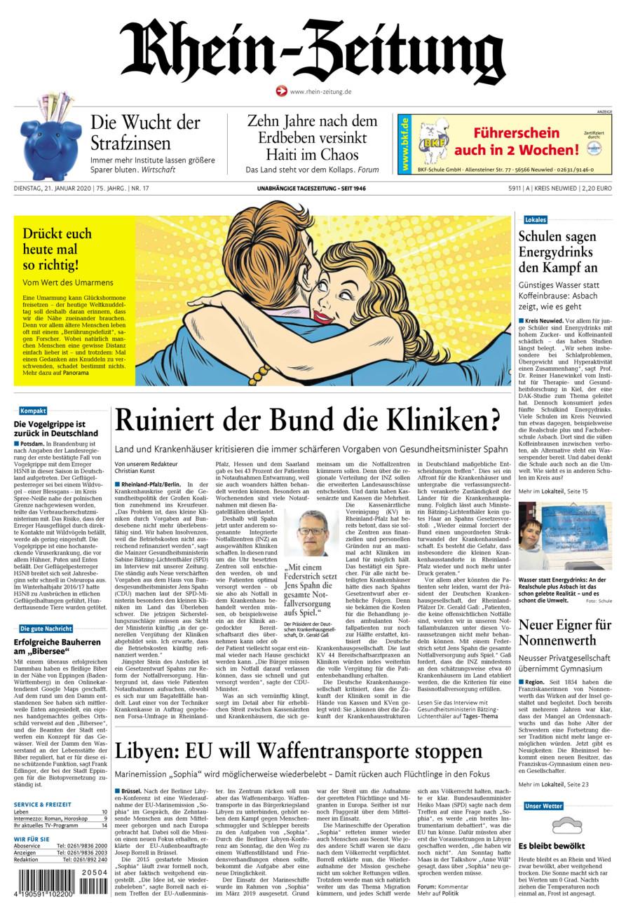 Rhein-Zeitung Kreis Neuwied vom Dienstag, 21.01.2020