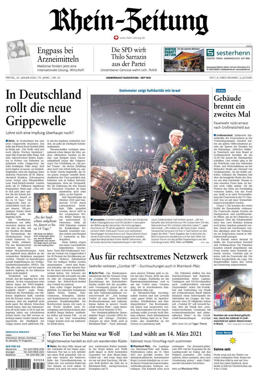 Rhein-Zeitung Kreis Neuwied vom Freitag, 24.01.2020