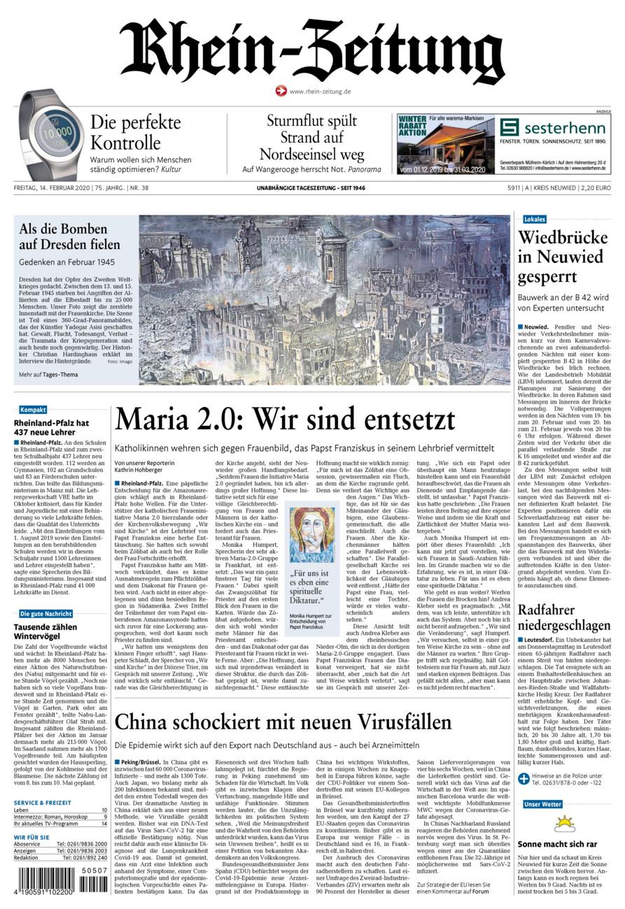Rhein-Zeitung Kreis Neuwied vom Freitag, 14.02.2020