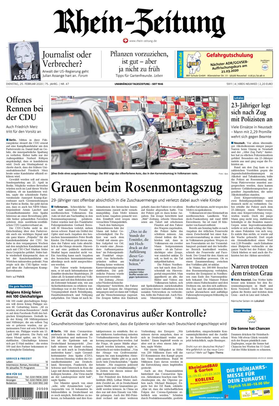 Rhein-Zeitung Kreis Neuwied vom Dienstag, 25.02.2020