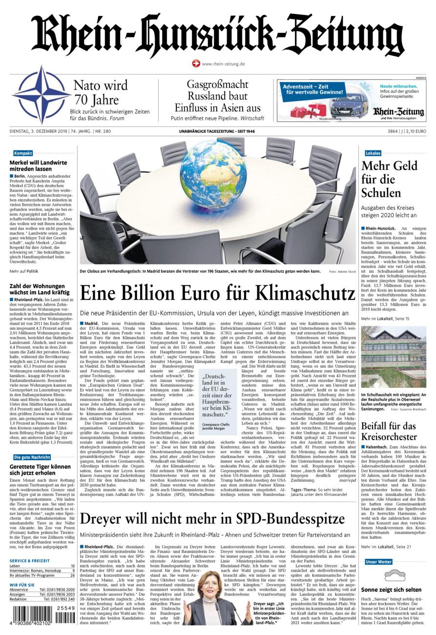 Rhein-Hunsrück-Zeitung vom Dienstag, 03.12.2019