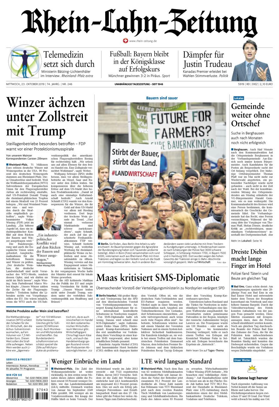 Rhein-Lahn-Zeitung Diez vom Mittwoch, 23.10.2019