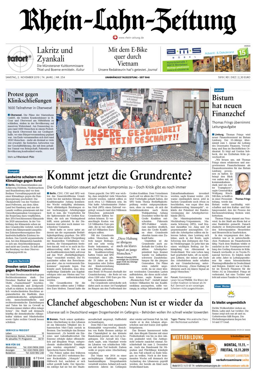 Rhein-Lahn-Zeitung Diez vom Samstag, 02.11.2019