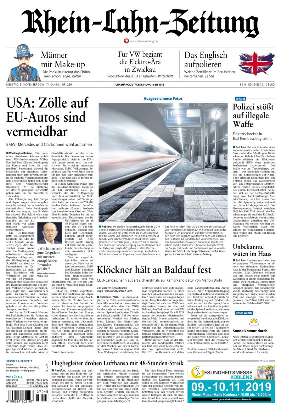 Rhein-Lahn-Zeitung Diez vom Dienstag, 05.11.2019