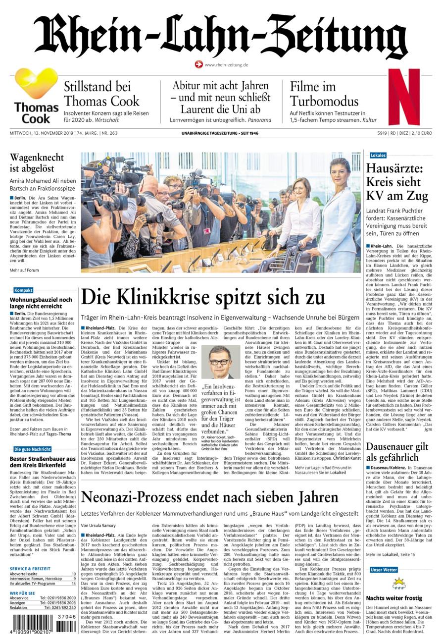 Rhein-Lahn-Zeitung Diez vom Mittwoch, 13.11.2019