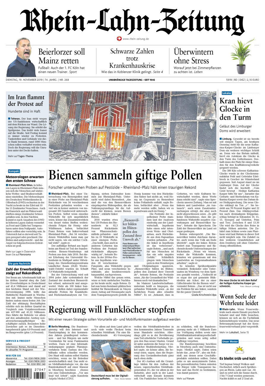 Rhein-Lahn-Zeitung Diez vom Dienstag, 19.11.2019
