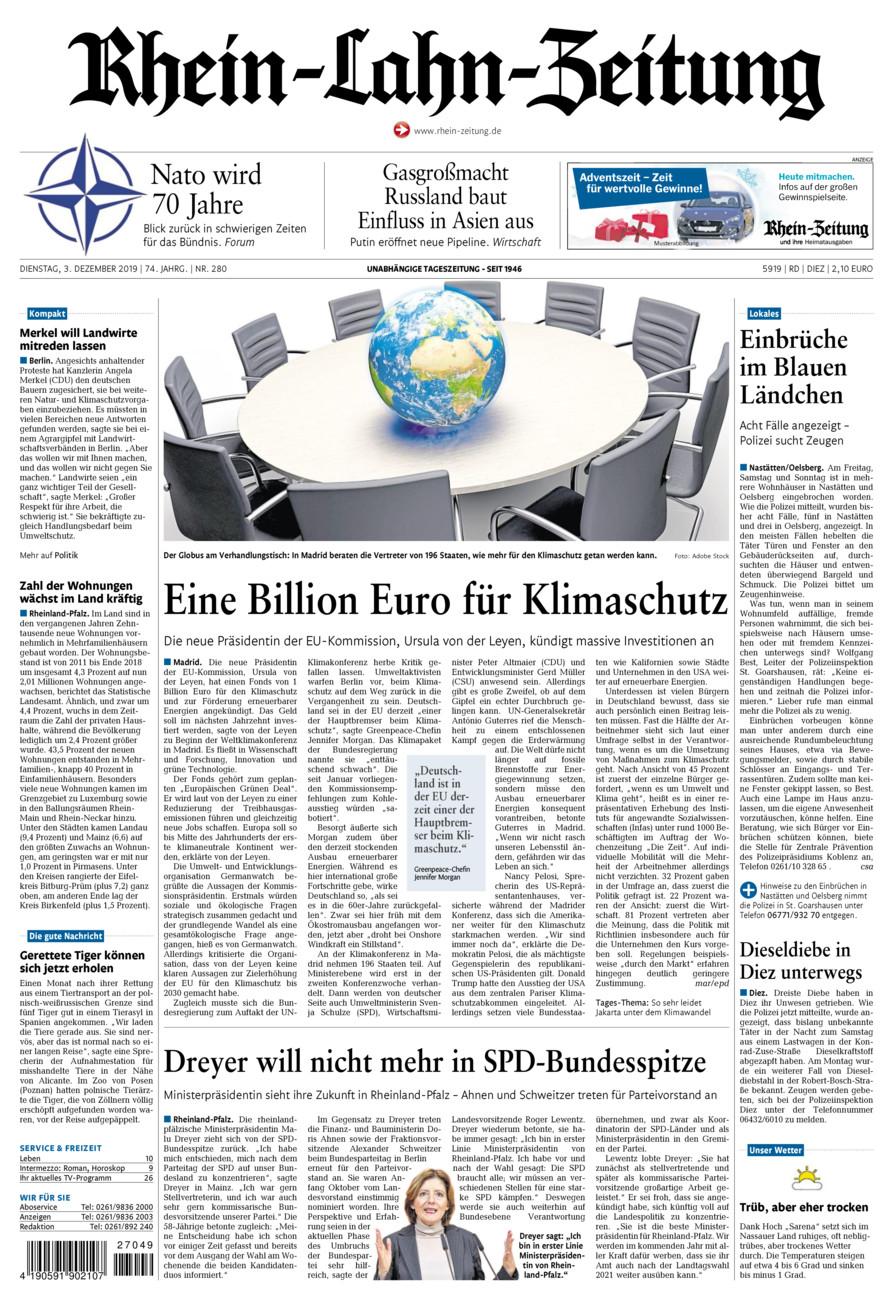 Rhein-Lahn-Zeitung Diez vom Dienstag, 03.12.2019