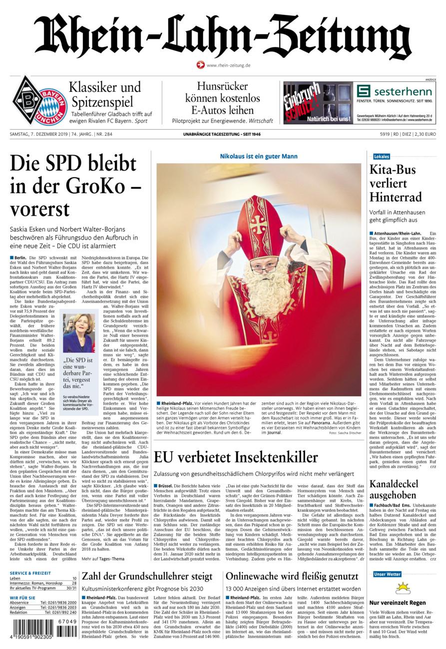Rhein-Lahn-Zeitung Diez vom Samstag, 07.12.2019