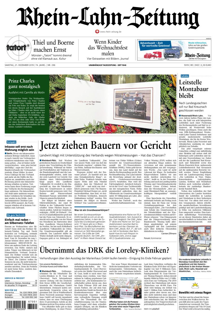 Rhein-Lahn-Zeitung Diez vom Samstag, 21.12.2019