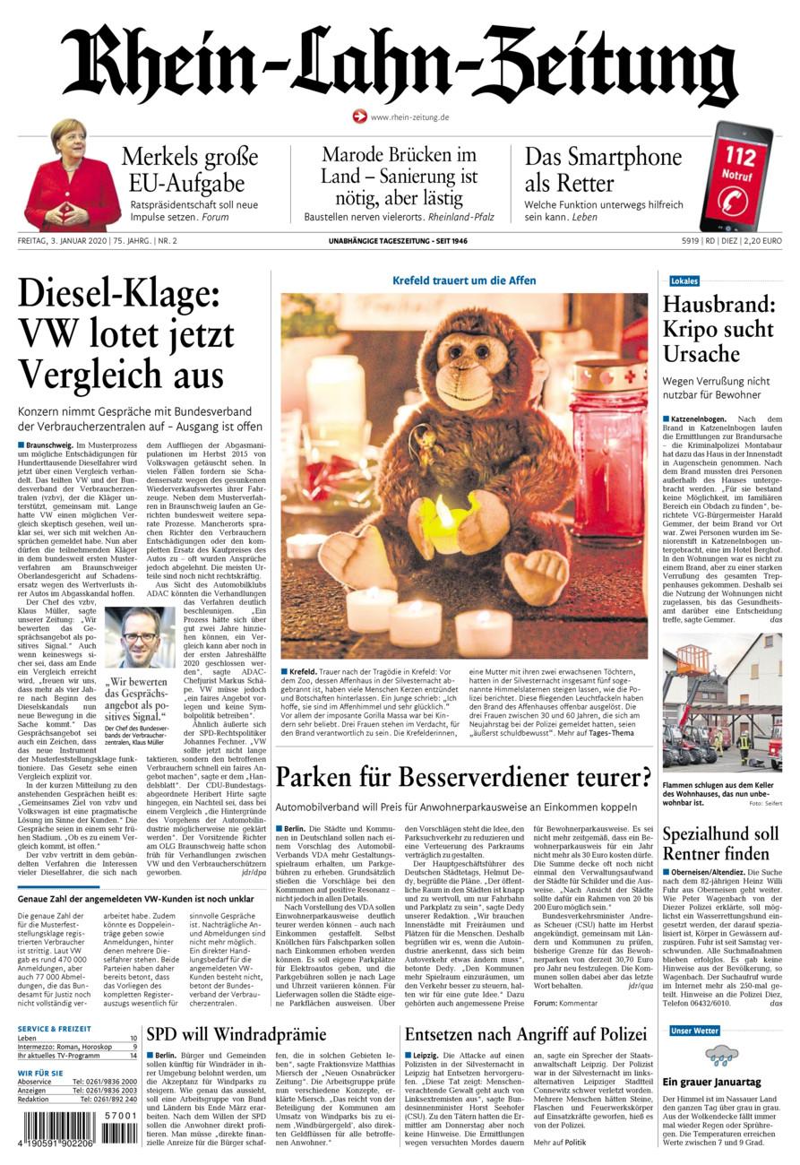 Rhein-Lahn-Zeitung Diez vom Freitag, 03.01.2020