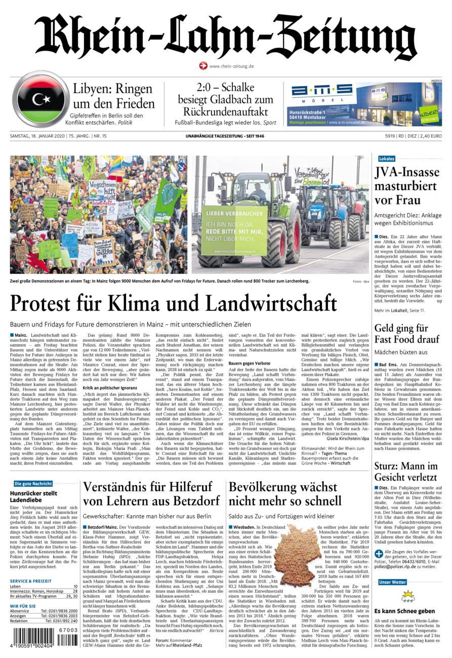 Rhein-Lahn-Zeitung Diez vom Samstag, 18.01.2020