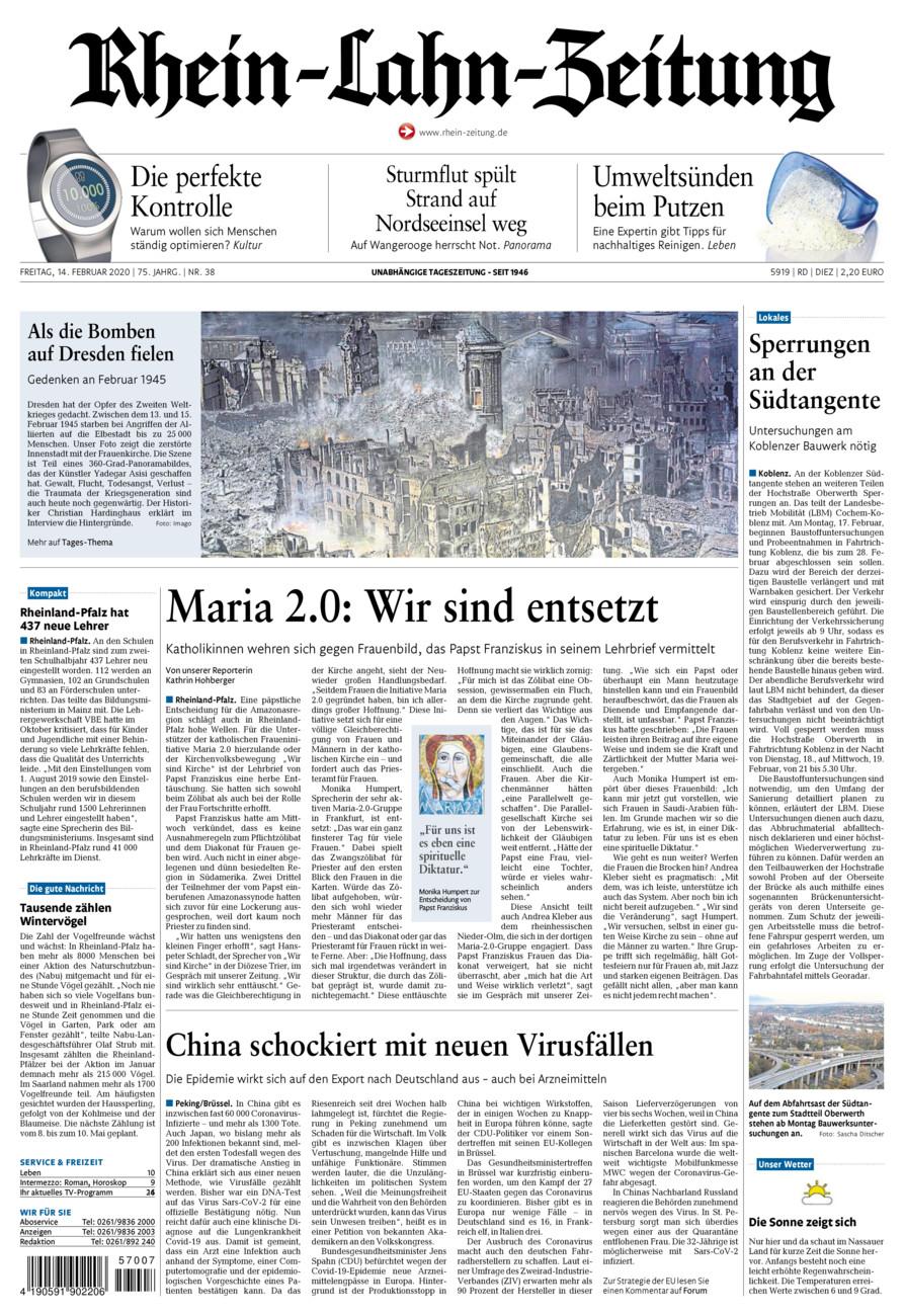 Rhein-Lahn-Zeitung Diez vom Freitag, 14.02.2020