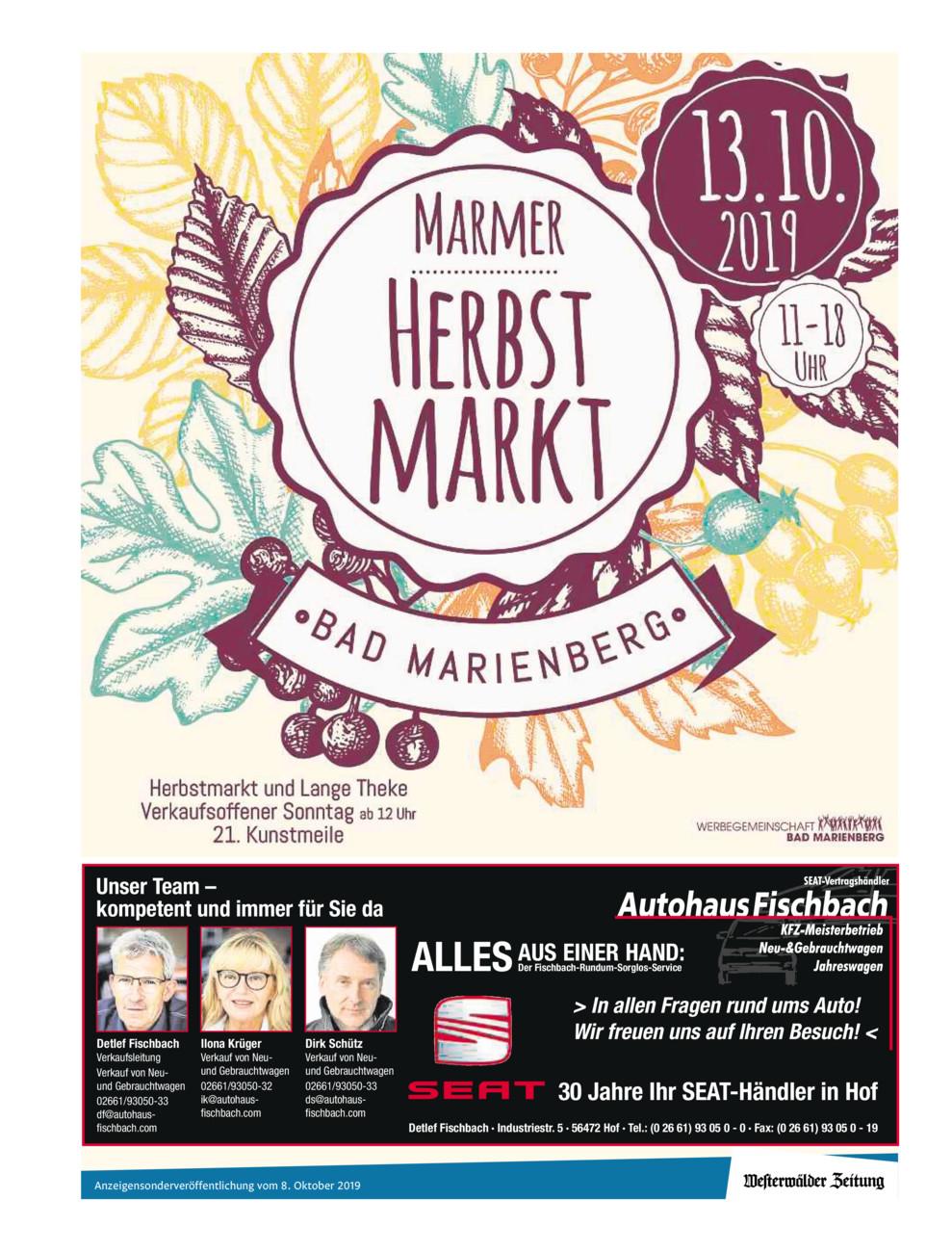 Marmer Herbstmarkt & L�wenfest Hachenburg