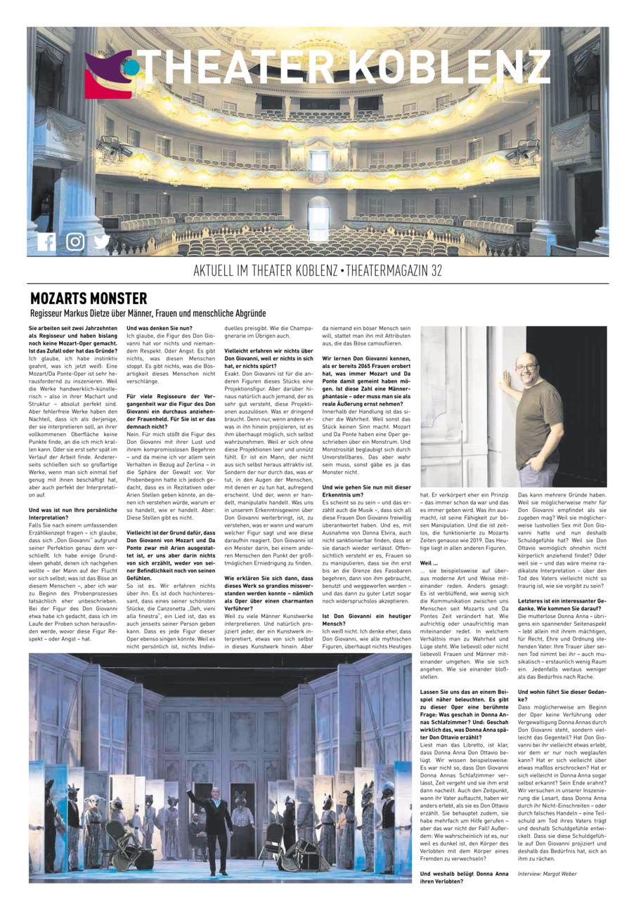 Theater Koblenz - Prospektstrecke Sept.19