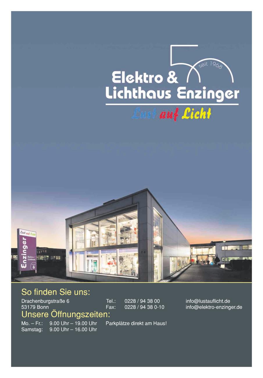 Lichthaus Enzinger Anzeigenstrecke