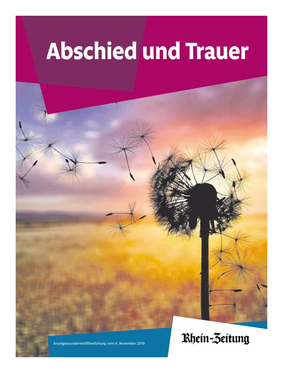 Trauer-Ratgeber 2019