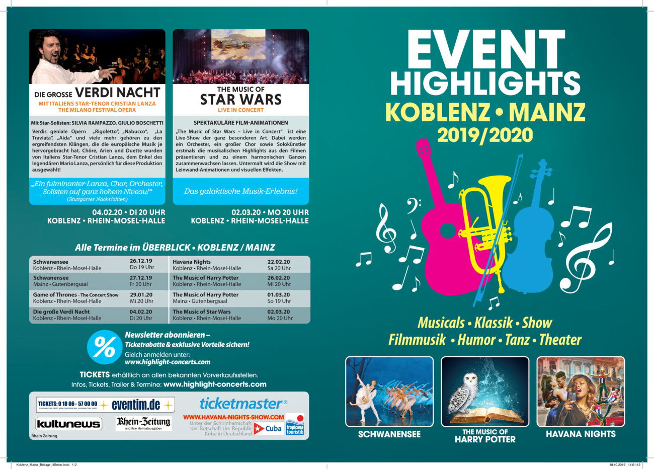 EVENT HIGHLIGHTS 2019/2020