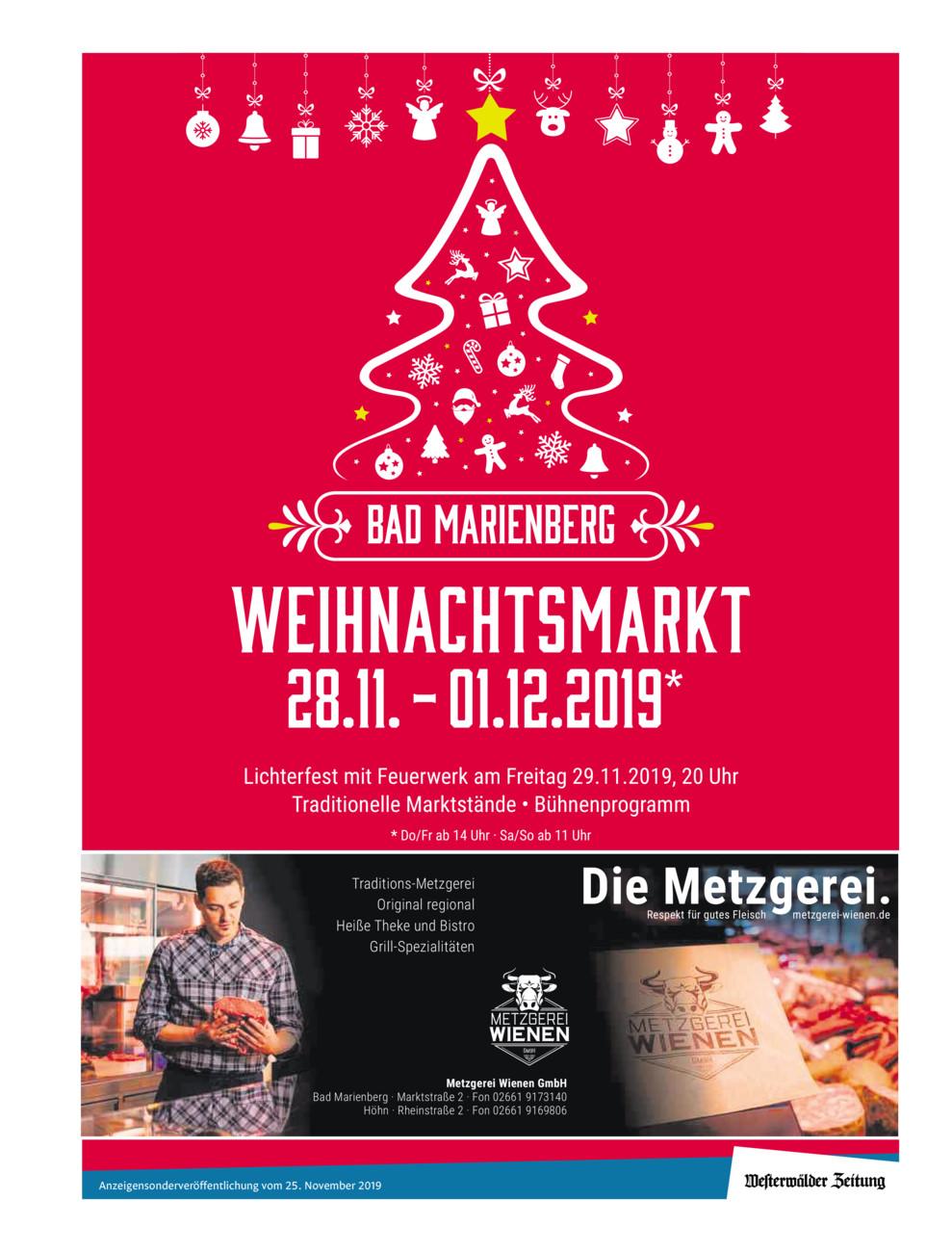 Weihnachtsmarkt Bad Marienberg 2019