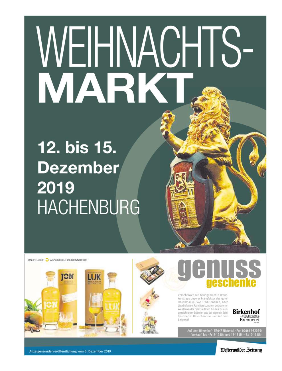 F Weihnachtsmarkt Hachenburg 2019