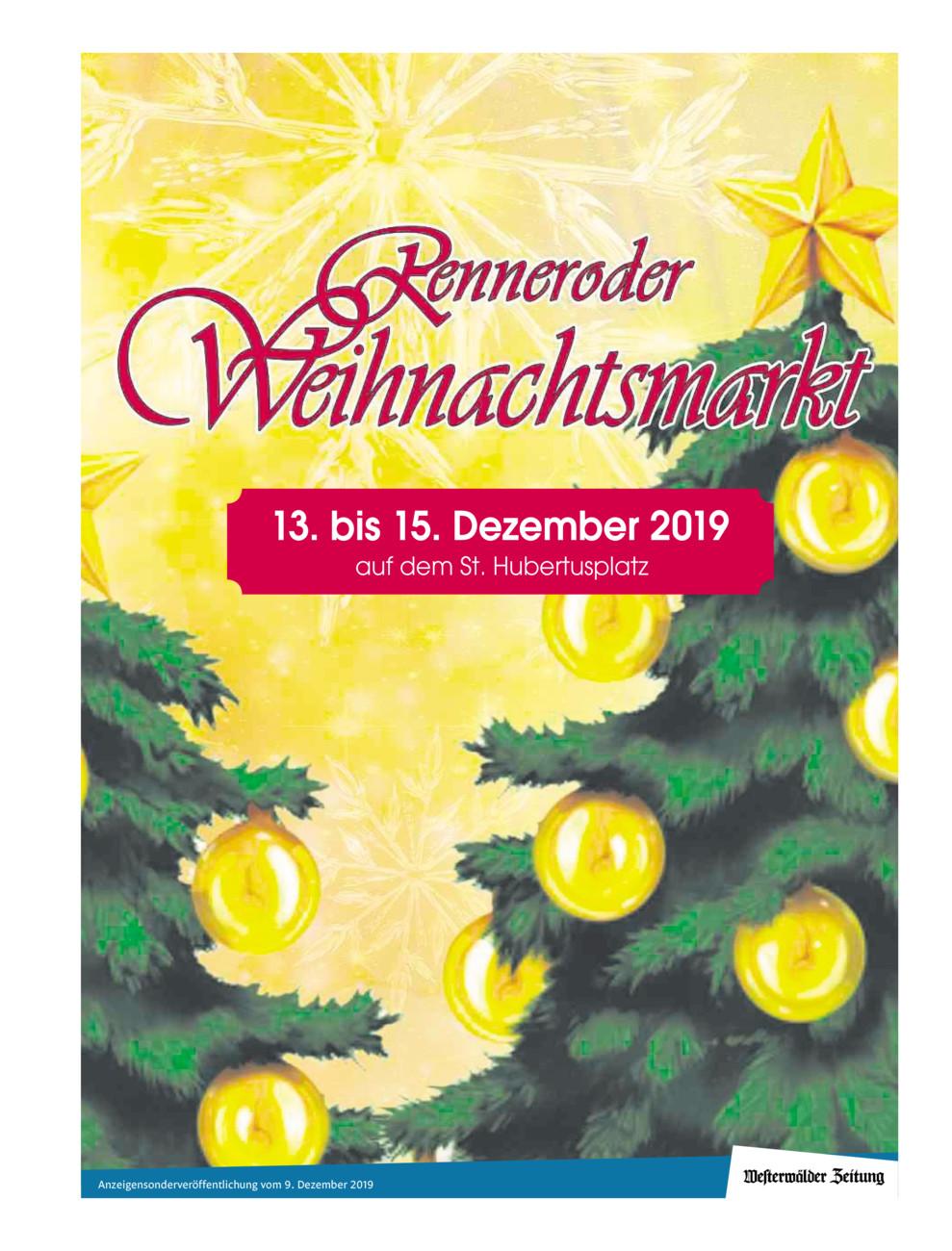 Weihnachtsmarkt Rennerod 2019