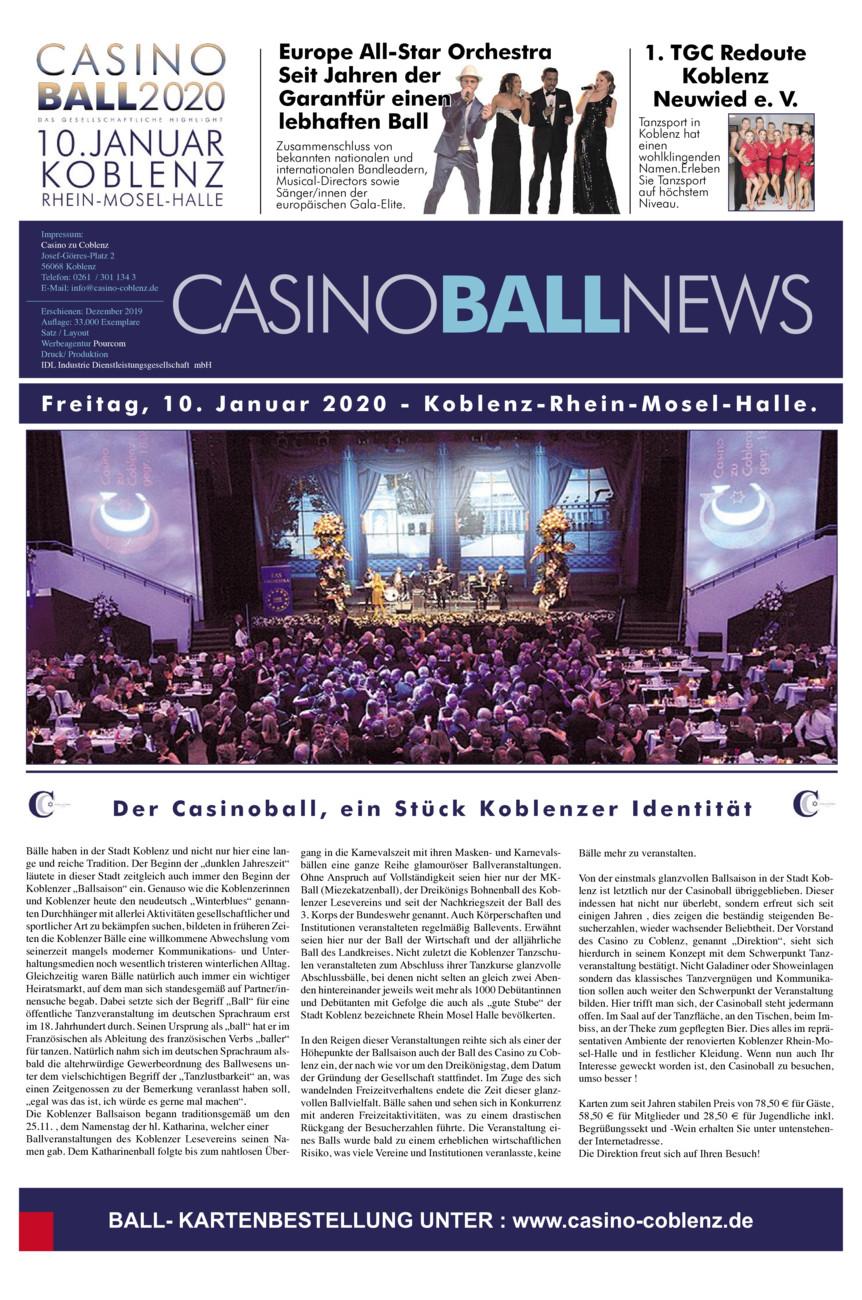 Casino Vorball-Zeitung