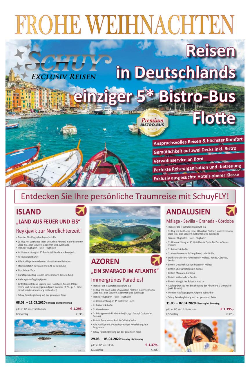 Schuy Reisen / Prospektstecke
