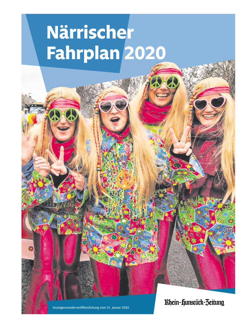 Närrischer Fahrplan 2020