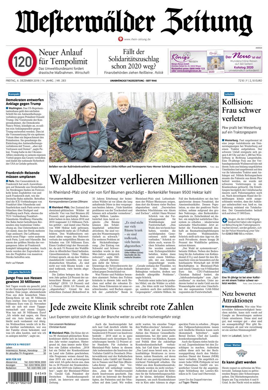 Westerwälder Zeitung vom Freitag, 06.12.2019