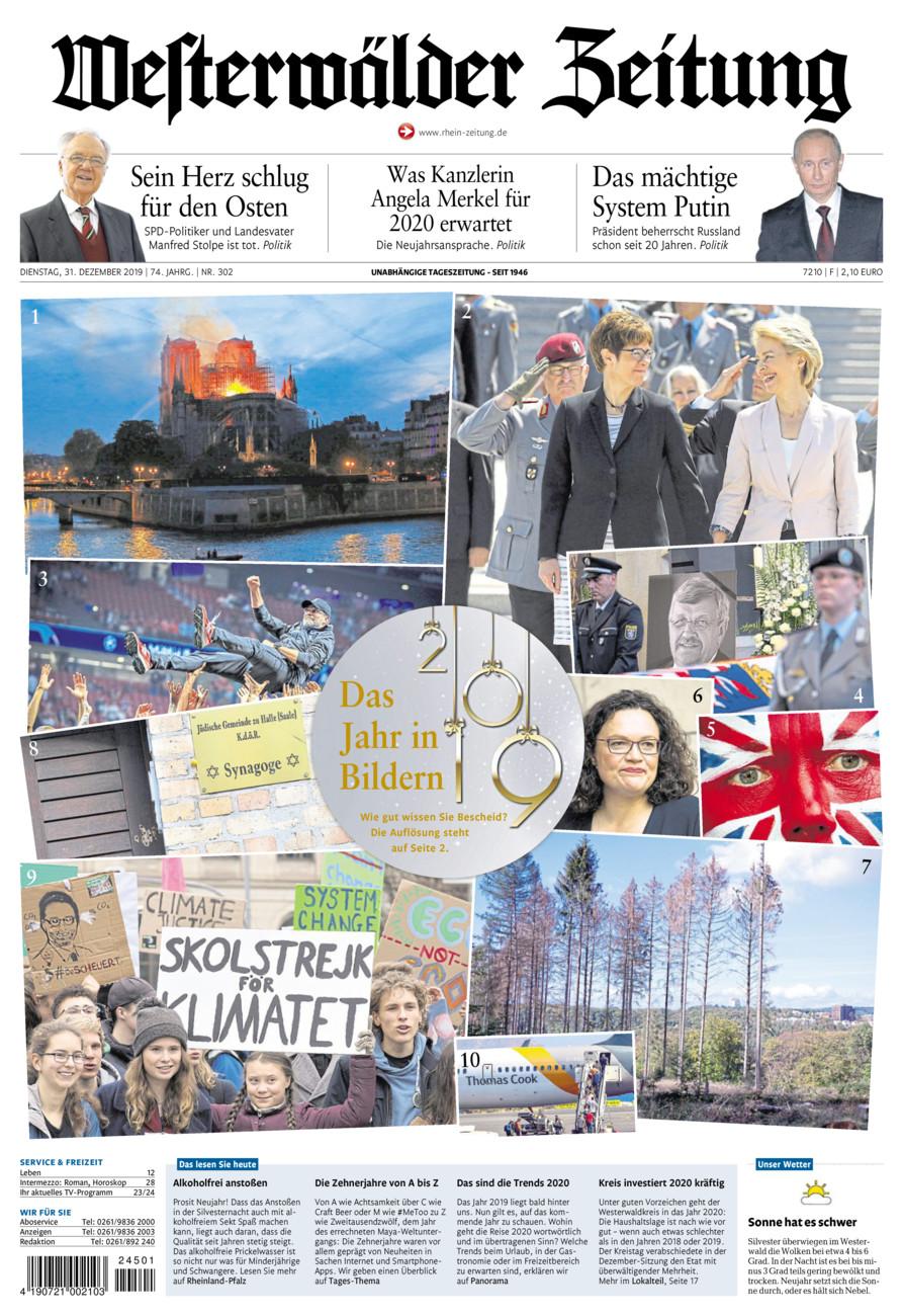 Westerwälder Zeitung vom Dienstag, 31.12.2019