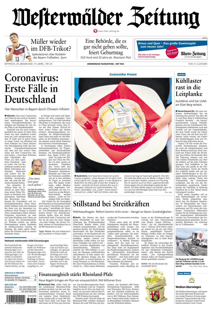Westerwälder Zeitung vom Mittwoch, 29.01.2020