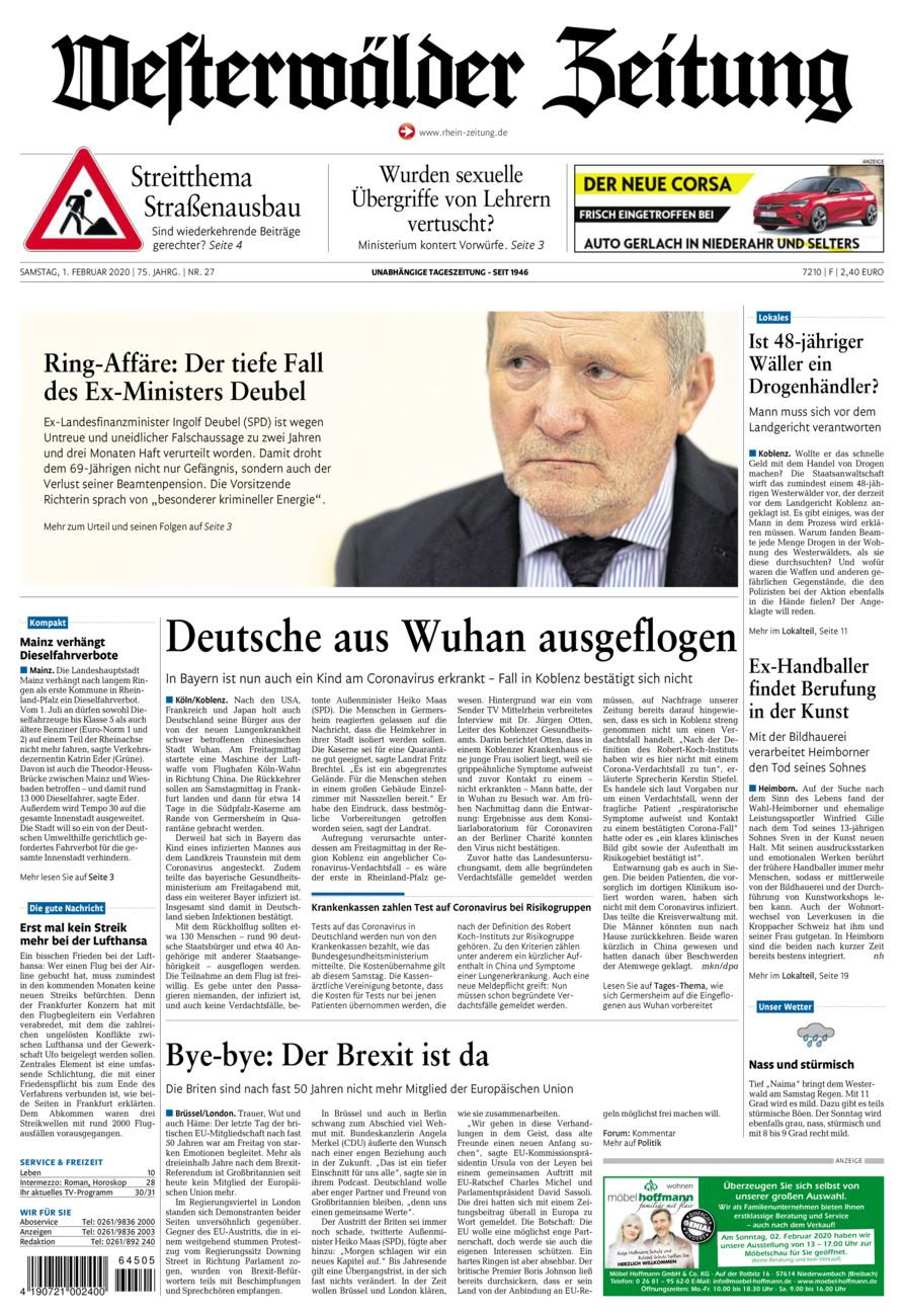 Westerwälder Zeitung vom Samstag, 01.02.2020