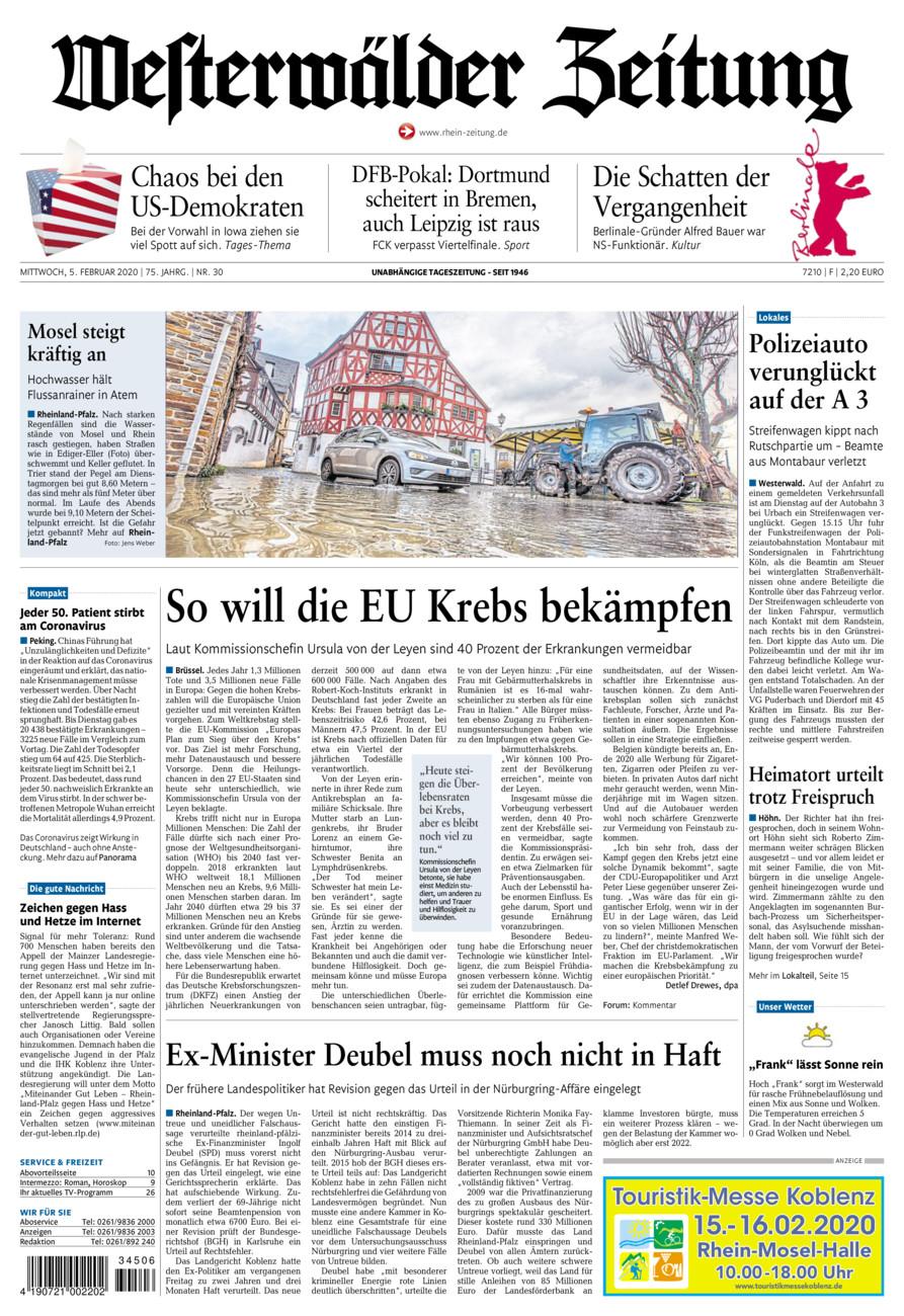 Westerwälder Zeitung vom Mittwoch, 05.02.2020